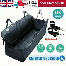 Pet Car Seat Cover Dog Safety Protector Mat Rear Back Seat Hammock Cushion Black