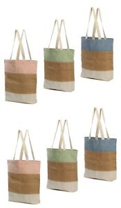 Reusable Bags Color Cotton Canvas Blank Shopping Totes  (Set of 6 )