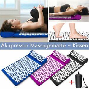 Akupressur-Set Nagelmatte Akupressurmatte Massagematte & Kissen Akupunktur