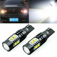 2Pcs 921 906 912 T10 T15 LED 6000K HID White Backup Reverse Lights Bulb 50W