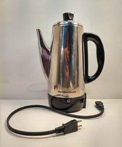 Vintage Hamilton Beach Automatic 12 Cup Coffee Pot Percolator Model 40616