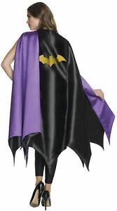 Deluxe Women's Batgirl Black Cape DC Comics Super Hero Adult Costume Accesssory