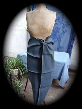 Immense torchon de boucher fin XIX ème  teint gris bleu  N°3