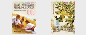 Serbian Rep. (B&H) / 2020 - Cultural Heritage (Flora, Costume, Flower), MNH