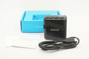 Original New Anker PowerPort+ 1 with Quick Charge 3.0 With USB C to C Cable 18W