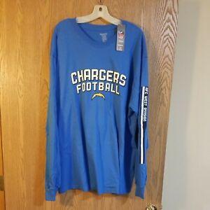 Reebok Chargers Long Sleeve Blue Shirt 2XL NWT
