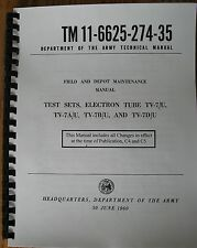 "TV-7D/U Repair Calibration Manual with ""Repair Voltage Check List"" clear photos"