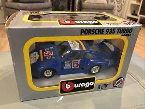 Vintage Burago PORSCHE 935 Turbo cod 0184 1/25 BUSCH BEER +original box +NICE+