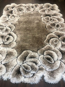 Romany Rugs-Carpet Approx 5x2Ft6 80x150CM 3D Rug Top Quality Cream-Beige Gypsy