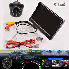 5Inch TFT LCD HD 16:9 Screen Car Reverse Parking Monitor w/ Rear View Camera CCD