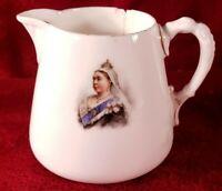 "2.75"" Antique Queen Victoria 1897 Diamond Jubilee Royal Doulton Burslem Creamer"