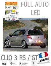 KIT 14 LED INTÉRIEUR ET EXTERIEUR RENAULT CLIO 3 III RS GT ANTI ERREUR BLANC PUR