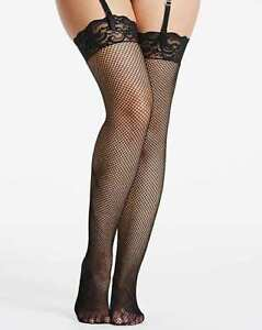 DREAMGIRL Black Fishnet Thigh High Stockings ONE SIZE FITS MOST   (CC110-11)