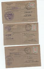 WW2 CHARENTE MARITIME LOT 3 CARTES RAVITAILLEMENT AVEC TIMBRES
