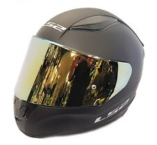 LS2 FF353 RAPID FULL FACE MOTORCYCLE HELMET MATT BLACK WITH GOLD IRIDIUM VISOR