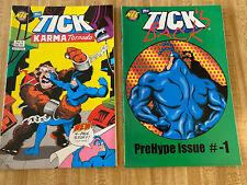 Tick's Back PreHype Issue #-1 + Karma Tornado #6  (1994, New England Comics)