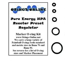 Pure Energy HPA Reactor Preset Regulator Paintball O-ring Oring Kit x 2 rebuilds