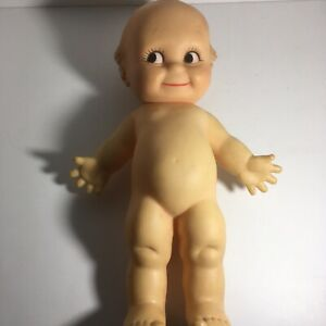 """Cameo """"Kewpie"""" Doll non jointed 1970s?Vintage! Squeaks 11 In."""