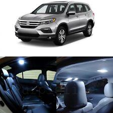 17 x White LED Lights Interior Package Deal For Honda PILOT 2016 - 2017 + TOOL