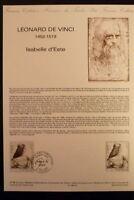FRANCE MUSEE POSTAL FDC 41-86     LEONARD DE VINCI    5F  PUTEAUX    1986