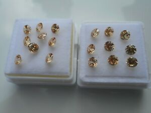 Champagne Cubic Zirconia loose stones for jewellery making 4mm round