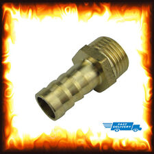"1/2"" BSP to 14mm Brass Male Barb Hose Tail Fitting Fuel Air Gas Water Hose Oil"