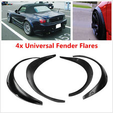 Universal Fender Flares Wheel Arches Extension Flares 4Pcs Black Wide Body Set