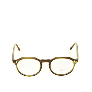 RRP€185 CUBITTS Round Optical Frame Clear Glasses Marble Pattern Keyhole Bridge