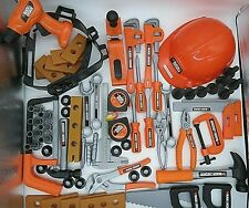 66 Pc Black and Decker Toy Tool Set Kid Preschool Pretend Play Plastic