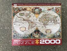 Eurographics Antique World Map Puzzle 2000 Piece