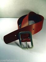 GÜRTELZAUBER 5 cm breiter Ledergürtel für Damen LEATHER BELT curved Rot