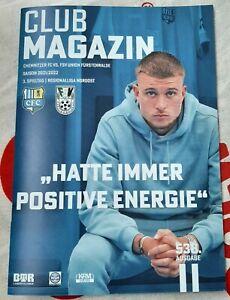 CLUB MAGAZIN #538, Chemnitzer FC - FSV UNION FÜRSTENWALDE, 30.07.21, RL NO 21/22