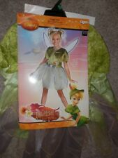 Disney tinker bell Princess deluxe Dress Costume with wings new Halloween  7/8