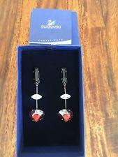 Swarovski Crystal Drop Heart Earings - Valentines Present