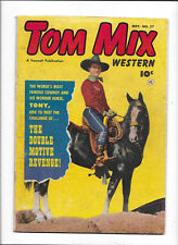 TOM MIX WESTERN #57 [1952 VG+] DRUG SMUGGLING STORY!