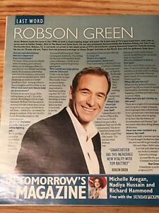 ROBSON GREEN interview THE LAST WORD UK 1 DAY ISSUE 2019