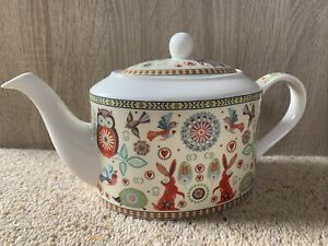 """Queens By Churchill China Teapot """"The Caravan Trail"""" St Ives #5739"""