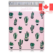 - 10 X 13 100 Pack Cactus & Succulents Poly Mailer Envelope Plastic Custom Ma...