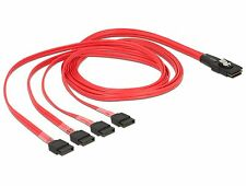 Delock Kabel mini SAS SFF-8087 > 4 x SATA 7 Pin 1 m 83074