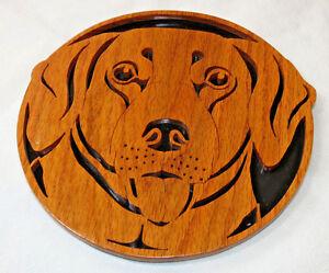 Mathena's Woodcraft wood wall plaque art decoration dog Labrador Retriever