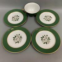 Royal Jackson Royal Banquet 6 1/8 Bread & Butter Plates Cup Bone China Lot of 5
