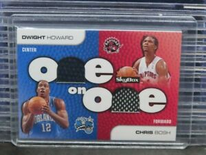 2008-09 Skybox Dwight Howard Chris Bosh One On One Game Used Jersey #OO-HB E293