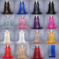 Premium Tassel Cotton Gold Line Shiny Hijab Scarf Shawl Soft Islam Muslim 180cm