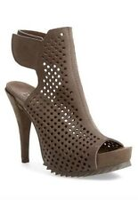 Pedro Garcia Women's Gray Perforated Suede Bootie 6102 Size 40.5 EU $550