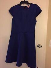 NWT Ted Baker Cap Sleeve Skater Dress Blue EEBRR $248 – Ted 5 US 12
