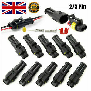 10/20/30 Kit 12V Cable Wire Connector Plug Waterproof Sealed for Electrical Car