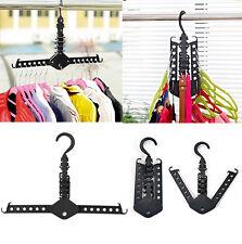 Dual Hanger Clothes Folding Rack Coat Organizer Foldable Multifunction