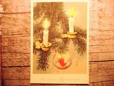 """Vintage Weihnachtspostkarte """"Gesegnete Weihnachten""""  von vor 1950, ungelaufen"""