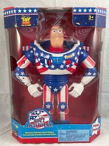 Toy Story Disney Pixar Stars & Stripes Buzz Lightyear Thinkway Toys 1995 NIB