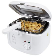 Deep Fat Fryer 1800W In White With 2.5 Ltr Oil Capacity and 800G Frying Basket